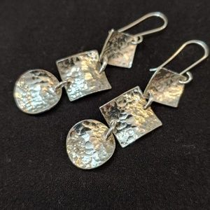 Silver earrings stamped 925